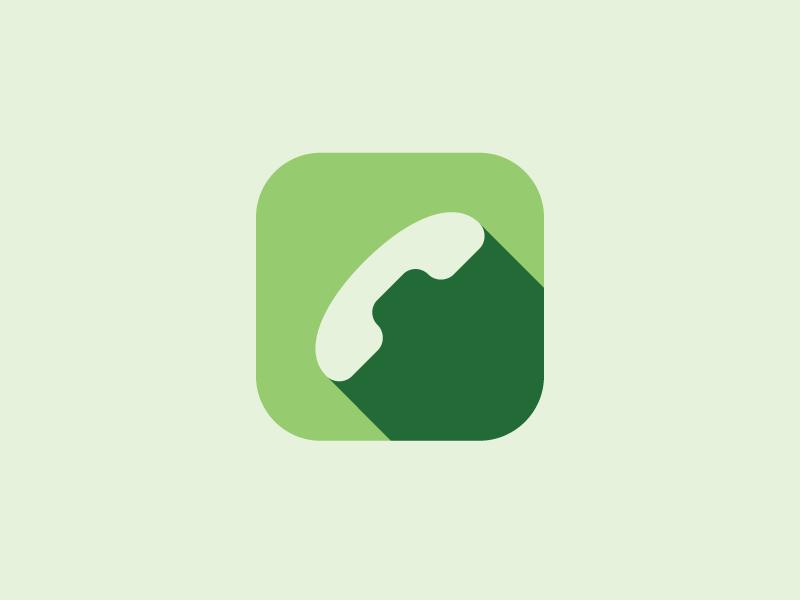 Phone phone icon ios app green simple flat minimal