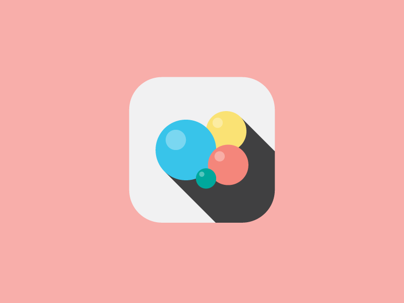 Game Center game app ios icon flat minimal simple colorful