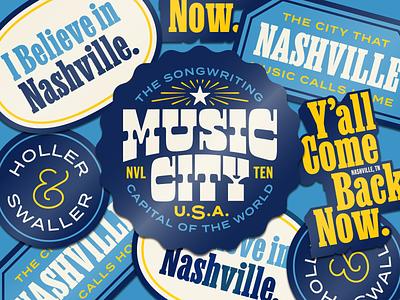Nashville Badges design typography music nashville patch badge