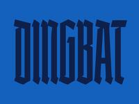 ☺ Business Cards font display blackletter typography type design business cards print