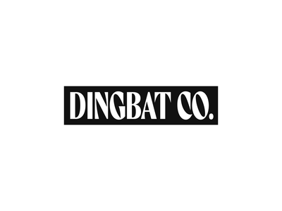 ☺ Dingbat Tees apparel tee shirt type logo branding design typography