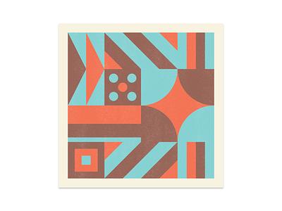 Shape & Color III abstract printmaking risograph print exploration color shape