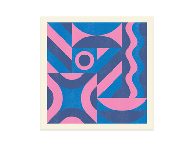 Shape & Color I abstract risography printmaking print explorations color shape