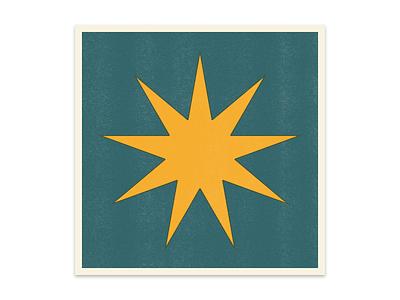 Asterisks bold simple print type typography star icon symbol dingbat risograph riso asterisk