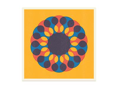 Merge color overlap type symbol star simple risograph riso print icon dingbat asterisk