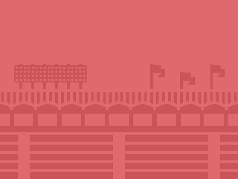Grandstand grandstand baseball illustration simple overlay app background flag ballpark negative space figure ground red