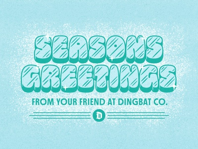 ❄️ typography winter frozen icy holiday font type