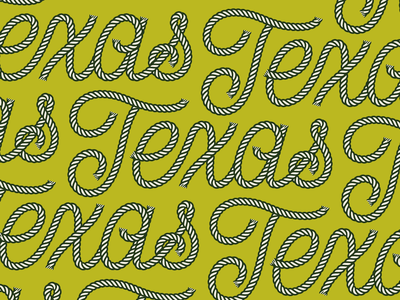 🤠 fun test experiment cowboy pattern lettering texas lasso brush rope script