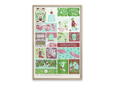 Bloom or Doom central texas food bank e4 youth poster risograph riso