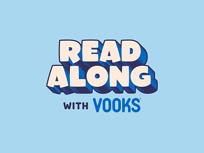 Read Along lettering patch procreate read along reading sticker badge