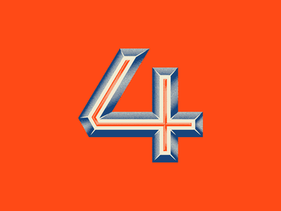 4 freelance diffusion grain 3d dimension number four 4