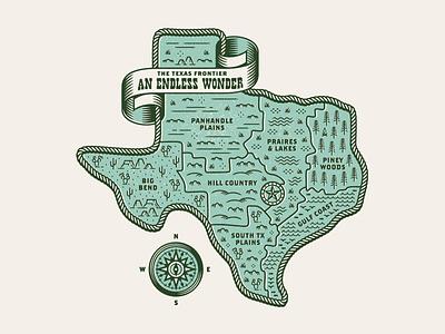 An Endless Wonder graphic illustration compass austin map texas shirt tee tshirt apparel