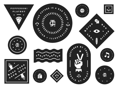 ✌️ mac demarco stickers stamp weird icons branding peace patch badge
