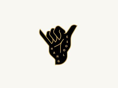 Hang Loose shaka hand pin