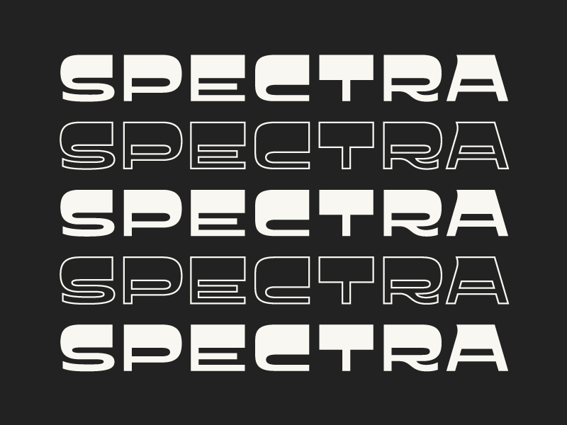 Spectra creative market vector supplies tools goods digital weird headline display lettering fonts typeface
