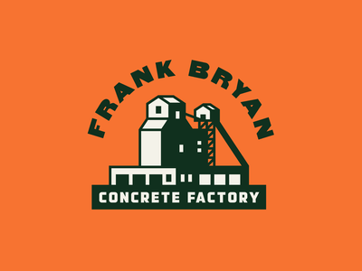 FBCF retro factory concrete mill badge illustration typography branding design lockup