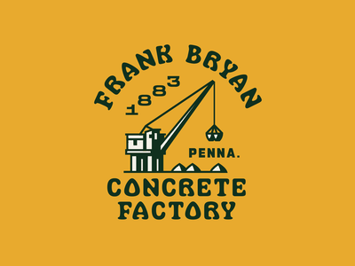 FBCF Crane vector typography type pittsburgh simple icon design badge lockup illustration