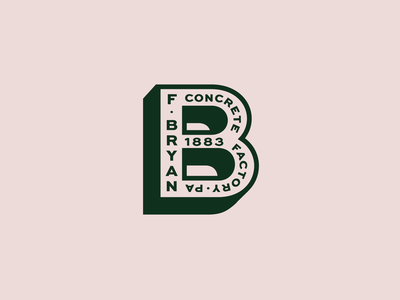 fBcf factory concrete badge pittsburgh b typography type icon logo simple