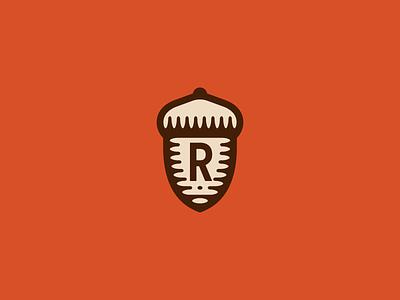 RBA texas oak tree symbol acorn logomark mark branding icon vector logo simple