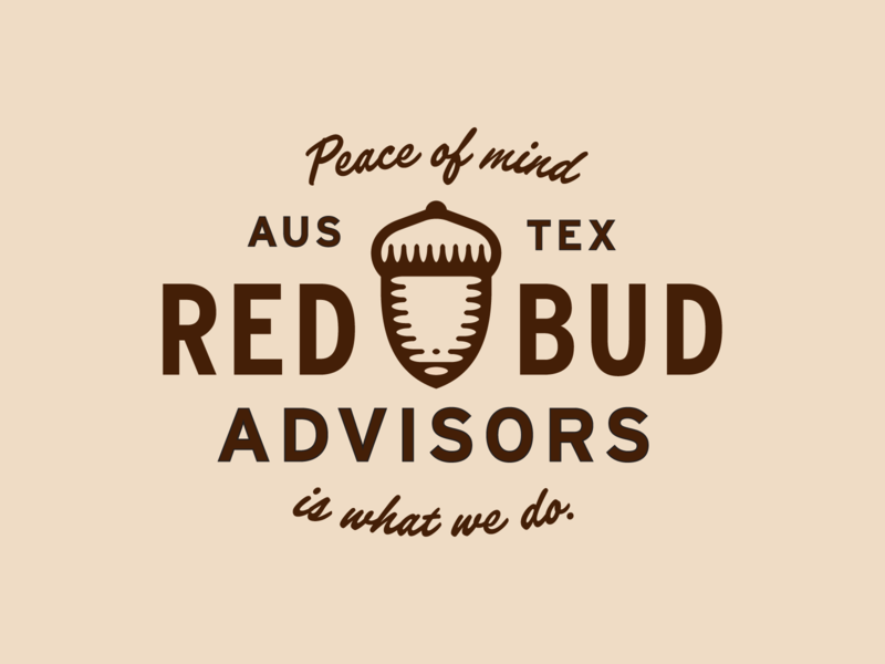 RBA Type design logo austin acorn lockup badge branding vector typography type simple
