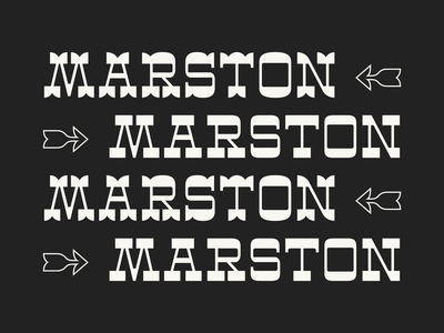 Marston Display contrast vector typography western display slab serif lettering typeface design typeface type