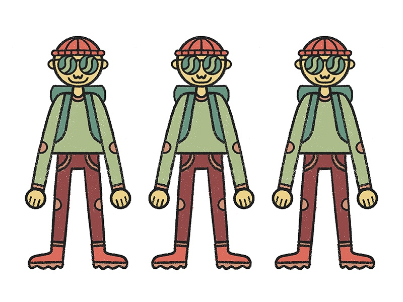 Milton character zine drawing illustration procreate