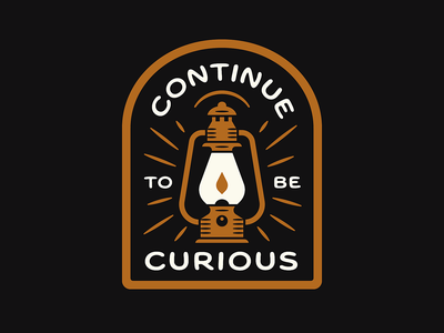 CTBC badge curiosity camping outdoors lantern campfire patch