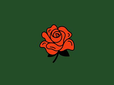 Rose flower rose line illustration icon vector