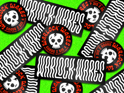 Warlock Wares apparel tee shirt illustration halloween skull type merch stickers
