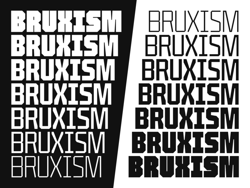 Bruxism bold industrial uppercase space headlines display variable font font type design