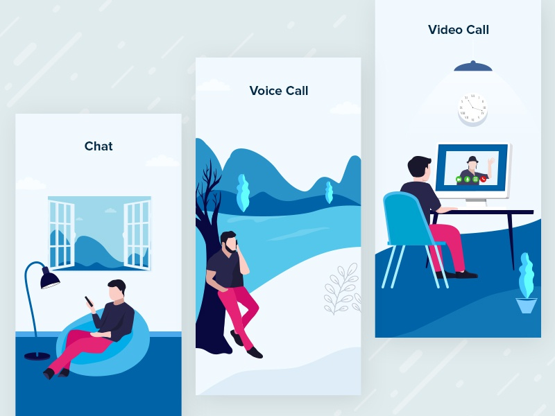 Chat Onboarding Illustrations