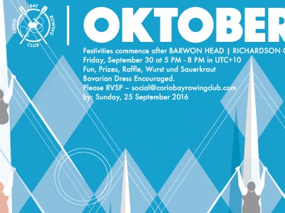 Corio Rowing Club Poster oktoberfest poster