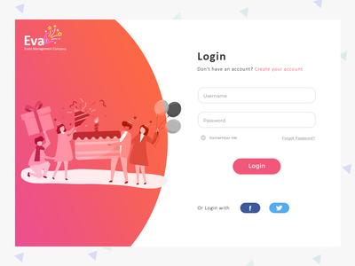 Events Login website loginpage loginui we design visualdesing userexperiance userexperiencedesign ui websitedesign