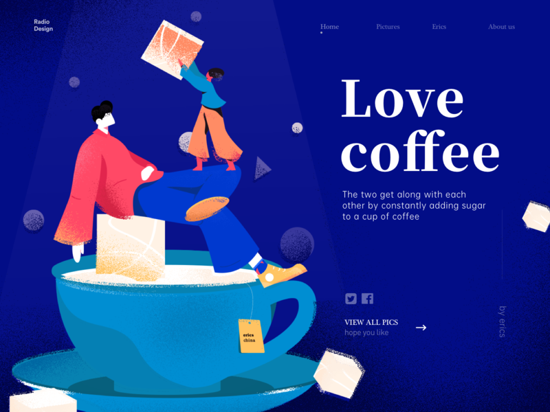 love coffee women man design illustrations poster vector graphic colors illustration