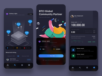 UI for bitcoin ux finace work mobile design colors bitcoin