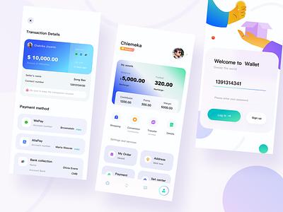 Financial app UI interface design pay bank hands work business bitcoin shopping app design app ui  ux
