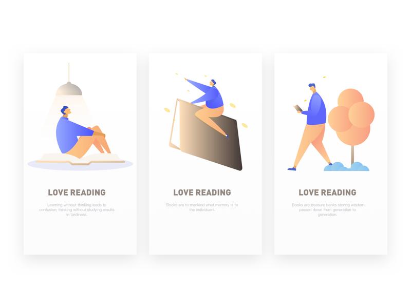 the splashpage of Love reading