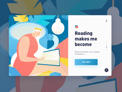 Reading makes me become myself illustrations vector poster illustration graphic colors