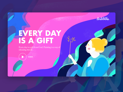 Every day  is a gift,Abstract illustration illustrations vector poster illustration graphic colors