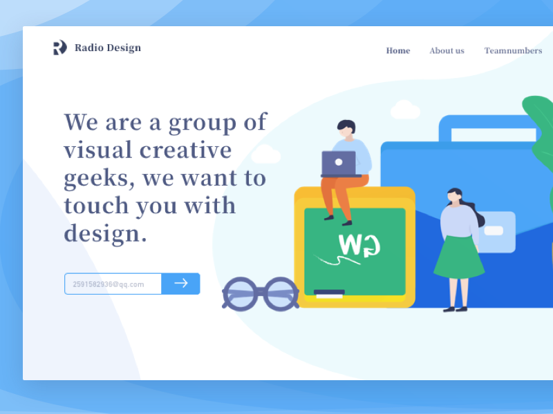 the homepage of radio design illustrations vector poster illustration graphic colors