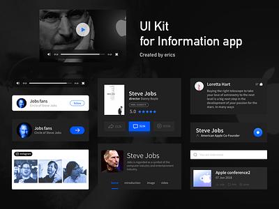 Artboard 3UI Kit for Information app ui kit graphic colors web ui