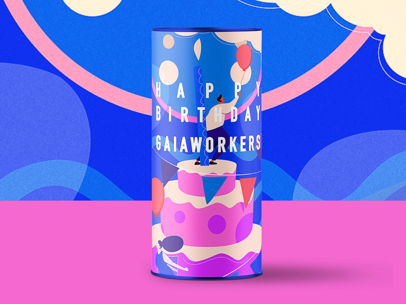 happy birtday gaiaworkers happy birtday illustrations vector poster illustration graphic colors