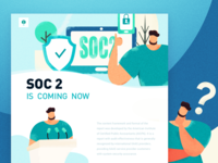 homepage of SOC2 character illustration