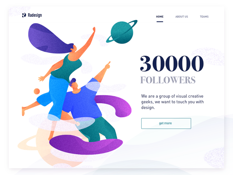 30000followers of RDD illustrations vector poster illustration graphic colors