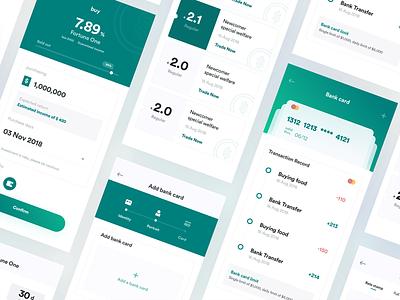 app UI of bank finance ux app splashpage ui colors