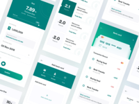 app UI of bank