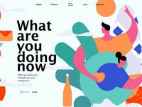 illustration  homepage of what are you doing now