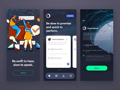App of quickly do something design homepage graphic illustrations splashpage ui illustration colors