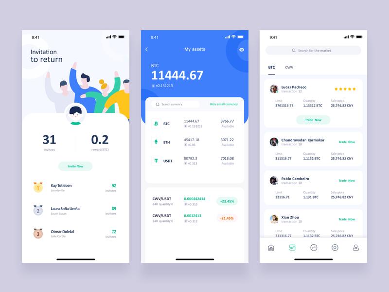 Conceptual design of token app app poster design illustrations ui colors
