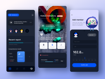Medical testing app app design ux mobile app illustrations branding ui